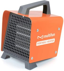 1500W Portable Ceramic Space Heater w/Adjustable Thermostat