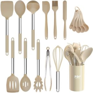 ZGO 17-Piece Silicone Kitchen Utensils Set