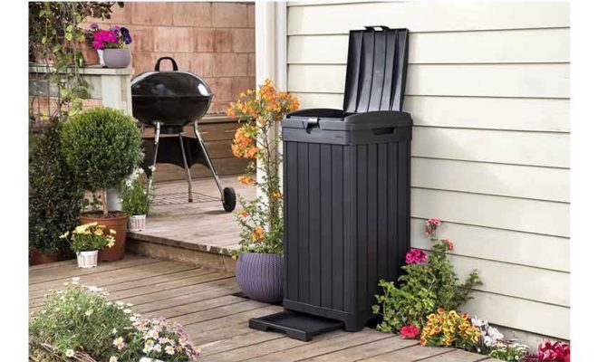 Keter Baltimore 38 Gallon Trash Can with Lid
