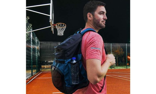 Xelfly Basketball Backpack with Ball Compartment