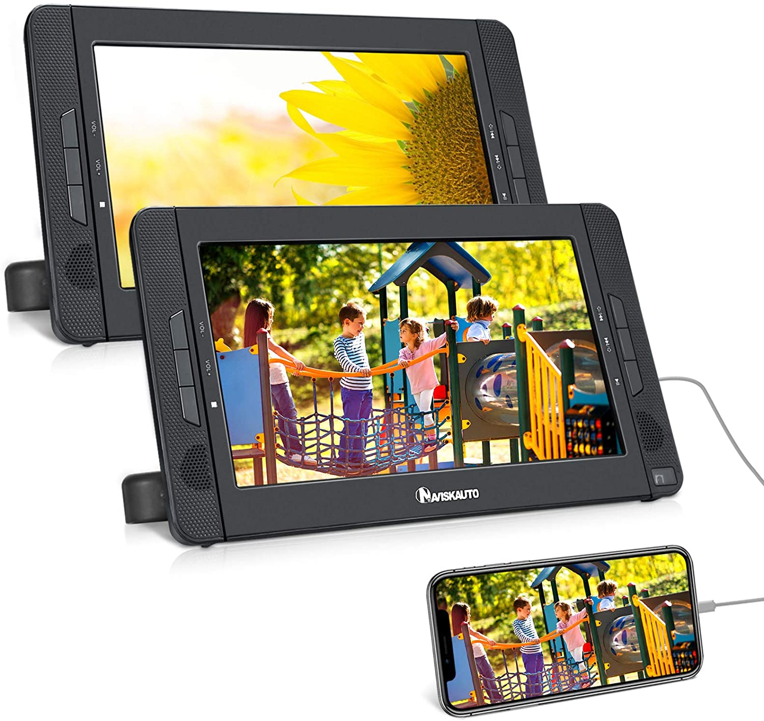 Dual Screen Portable DVD Player for Car with HDMI Input