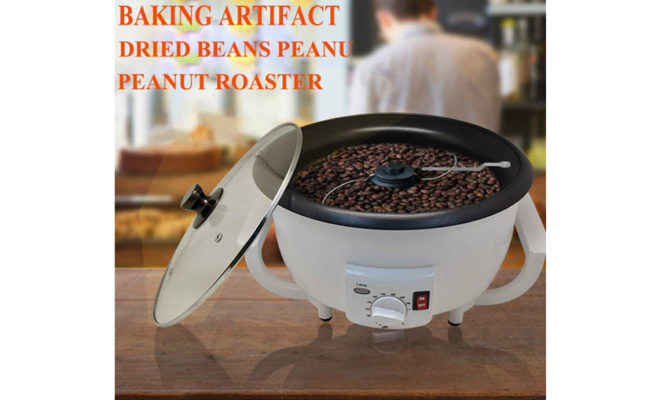 Coffee Roaster Machine Coffee Bean Roasting Electric for Cafe Shop Home Household Use