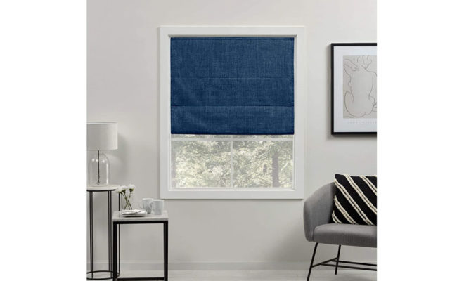 Exclusive Home Curtains Acadia Total Blackout Roman Shade