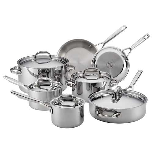 Anolon 30822 Triply Clad Stainless Steel Cookware Pots and Pans