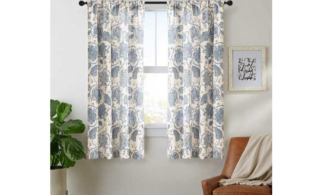 jinchan Tie Up Curtains for Kithcen Living Room Adjustable Tie-up Shade