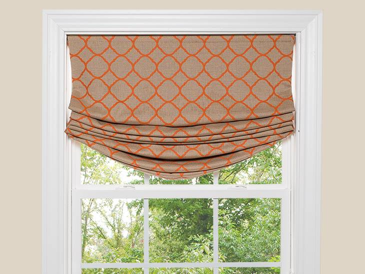 roman shades without dowels