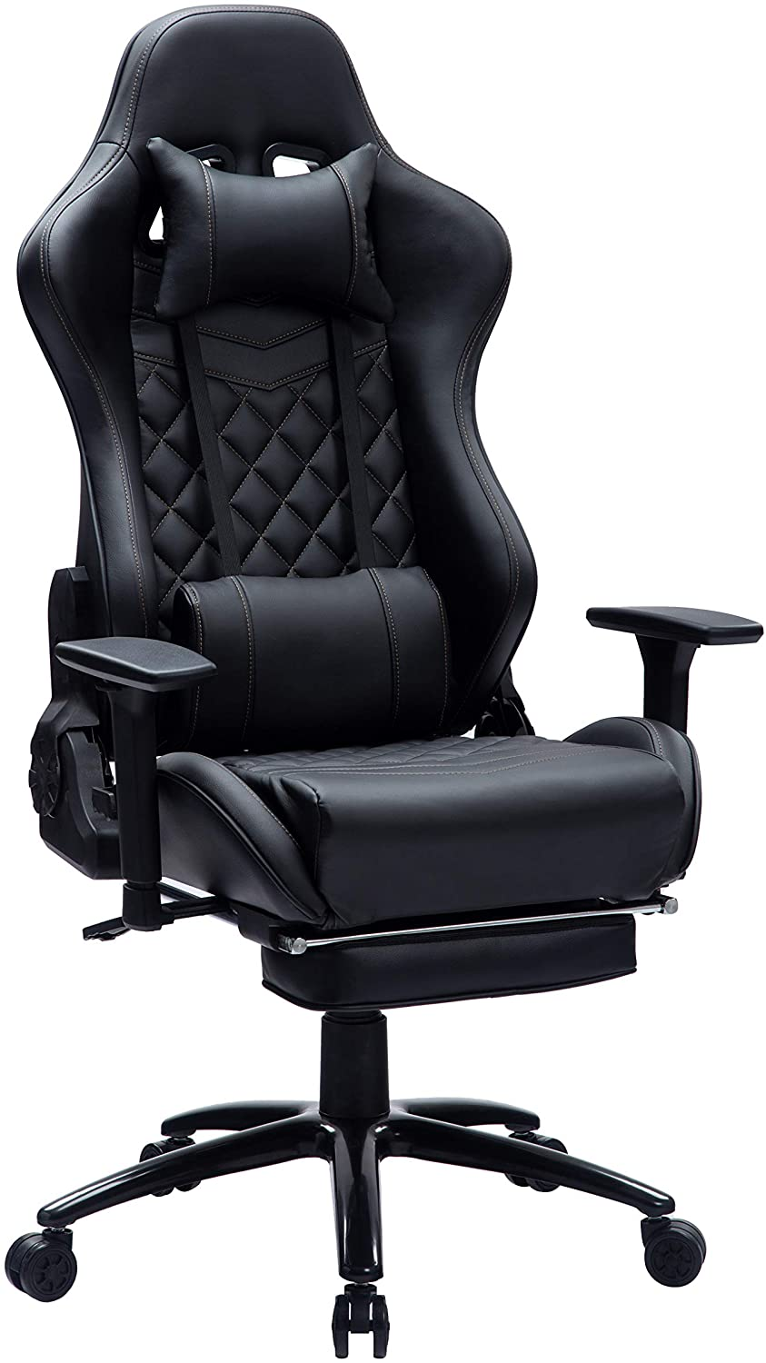 Blue Whale Massage Computer Gaming Chair with Footrest and Metal Base