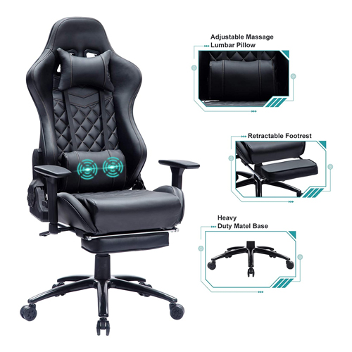Blue Whale Massage Computer Gaming Chair