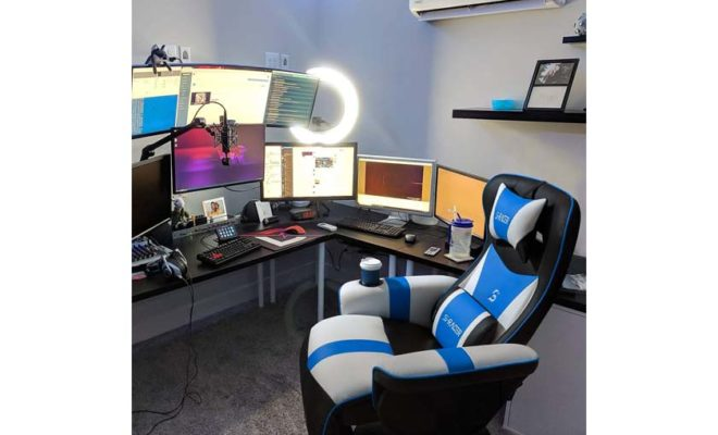 Furniwell Gaming Recliner Chair Racing Style Gaming Ergonomic High Back Computer Chair