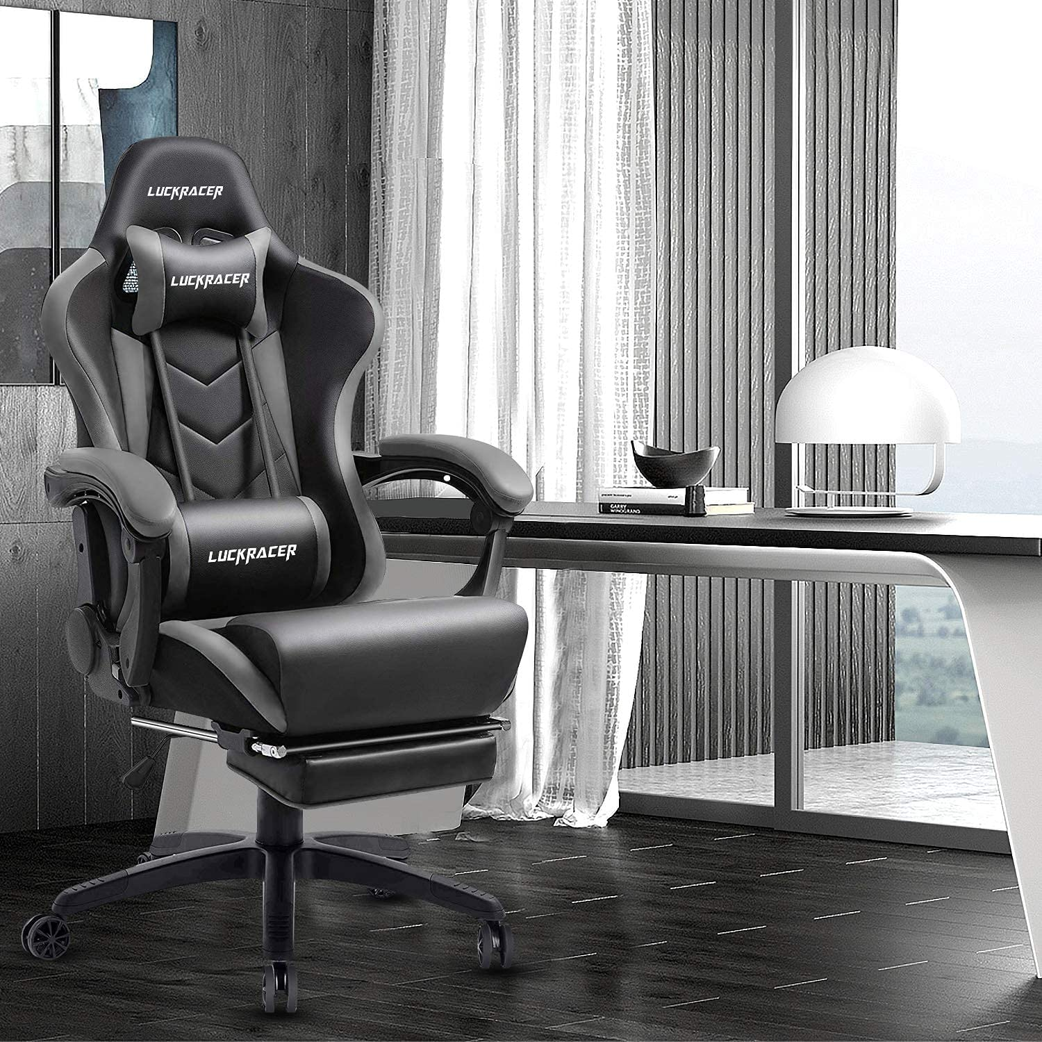 Gowins Gaming Chair with Footrest and Massage