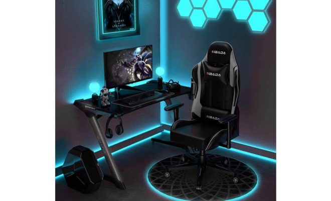 Hbada Gaming Chair Racing Style Ergonomic High Back Computer Chair with Height Adjustment