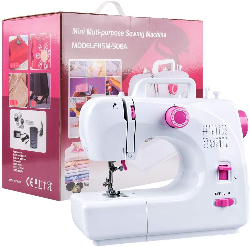 JRing Sewing Machine Portable Built in 16 Stitches