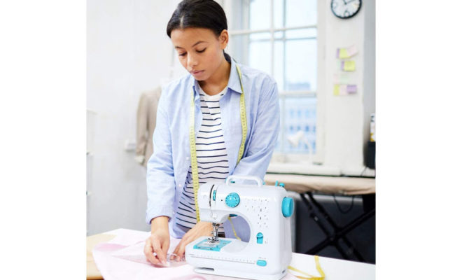 Mini Sewing Machine for Begginers Portable Electric Crafting Mending Machine with 12 Built-in Stitches