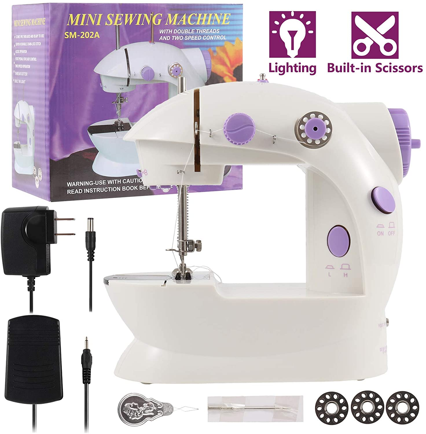 WIOR Mini Sewing Machine for Beginners