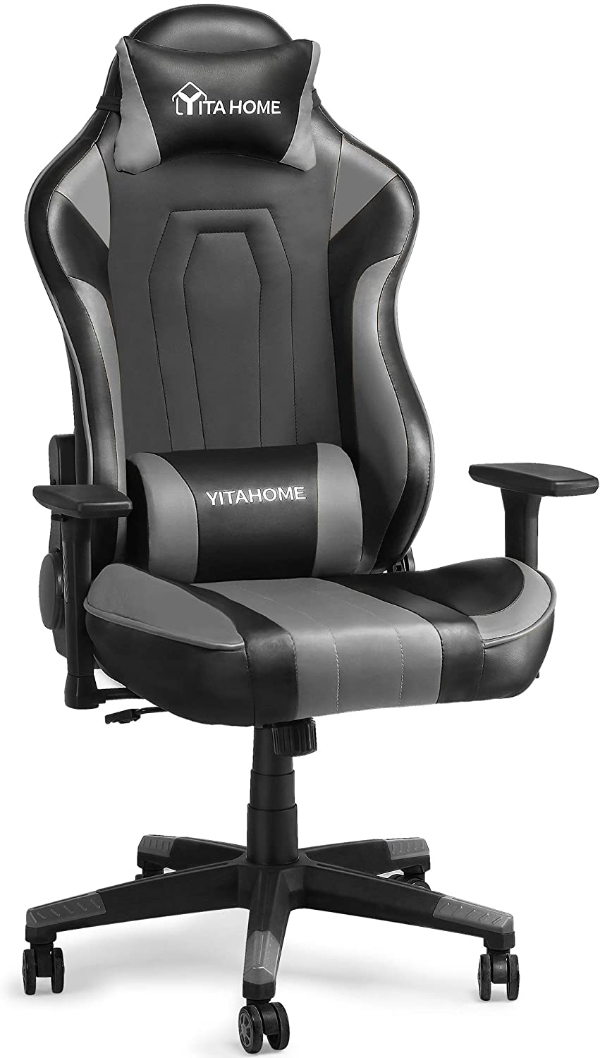 YITAHOME Massage Gaming Chair Big and Tall Heavy Duty 350lbs Ergonomic Video Game Chair