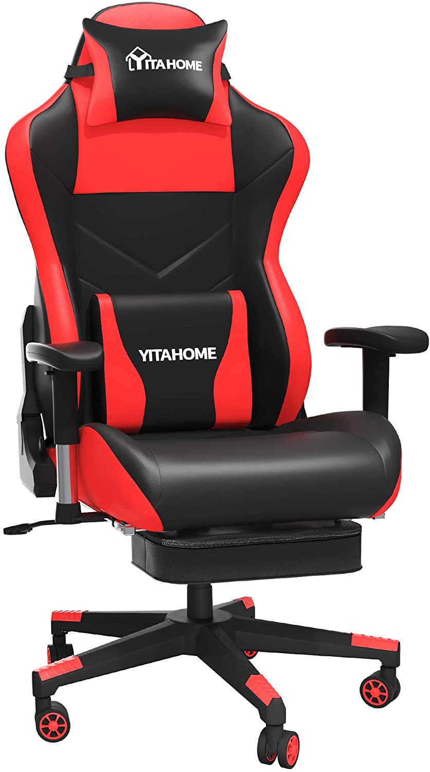 YITAHOME Massage Gaming Chair with Footrest Big