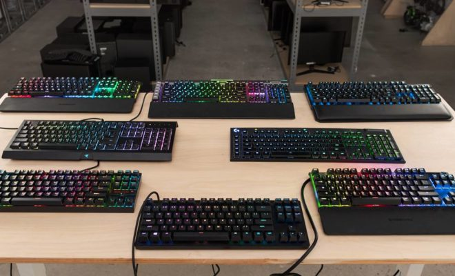 gaming keyboards on the table