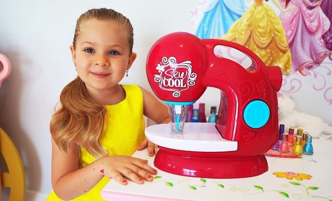 red sewing machine for kids