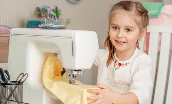 white sewing machines for kids