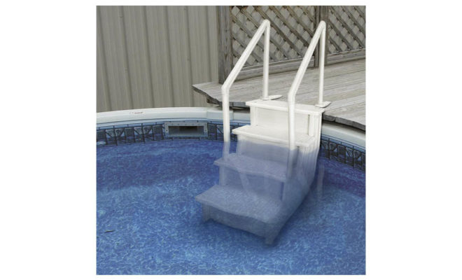 Aqua Select Above Ground Anti-Slip Pool Steps to Deck, Safety Swimming Pool Ladder
