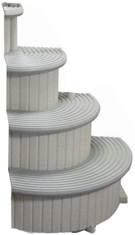 Confer CCX-ADD 4-Step Above Ground Swimming Pool Entry Steps Curved Add-on