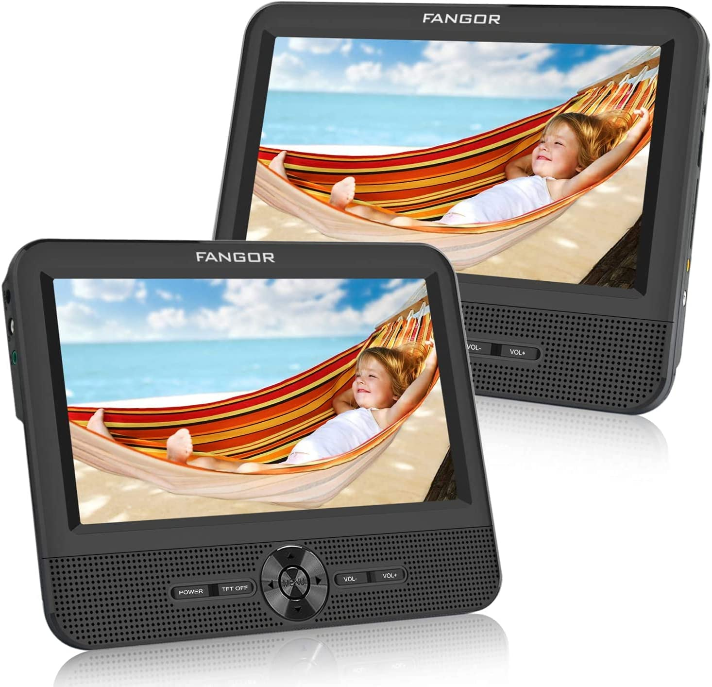 Headrest Video CD Player with Two Screens