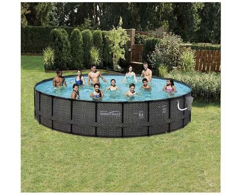 Summer Waves Elite P4A02048B 20ft x 48in Above Ground Frame Swimming Pool Set w/Filter Pump