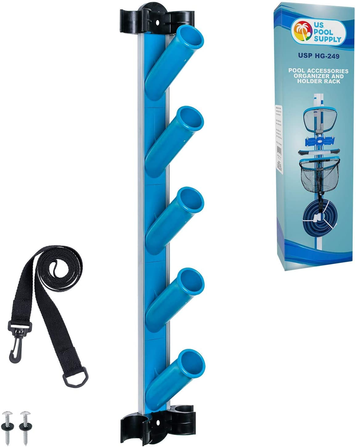 U.S. Pool Supply Pool Cleaning Accessory Organizer and Holder Rack
