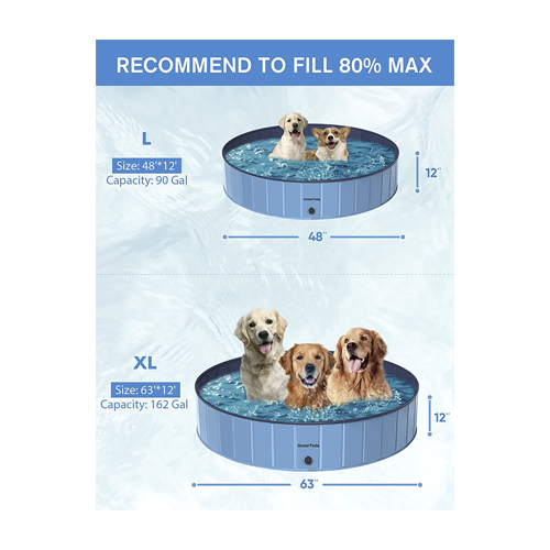 OceanTeda Foldable Dog Pool for Large Dogs